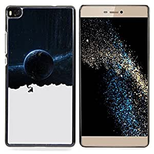 SKCASE Center / Funda Carcasa protectora - Espacio Galaxy Pensamientos;;;;;;;; - Huawei Ascend P8 (Not for P8 Lite)