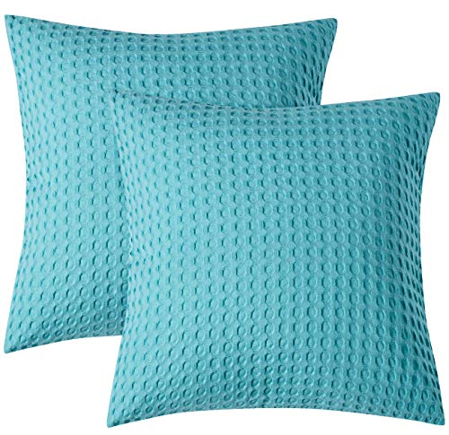 - PHF Cotton Euro Sham Cover Waffle Weave 26