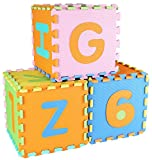 BalanceFrom Kid's Puzzle Exercise Play Mat with EVA Foam Interlocking Tiles, Alphabet