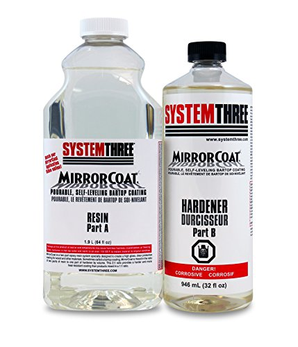 system-three-0500k44-clear-mirrorcoat-self-leveling-bar-and-tabletop-coating-3-quart-bottle