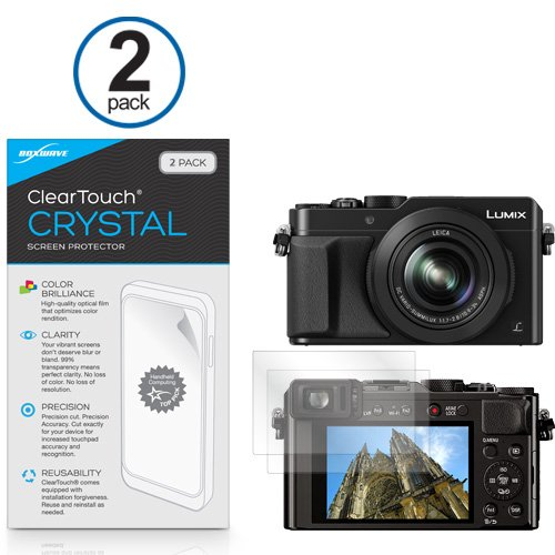 Panasonic Lumix DMC-ZS60 Screen Protector, BoxWave [ClearTouch Crystal (2-Pack)] HD Film Skin - Shields from Scratches for Panasonic Lumix DMC-ZS60