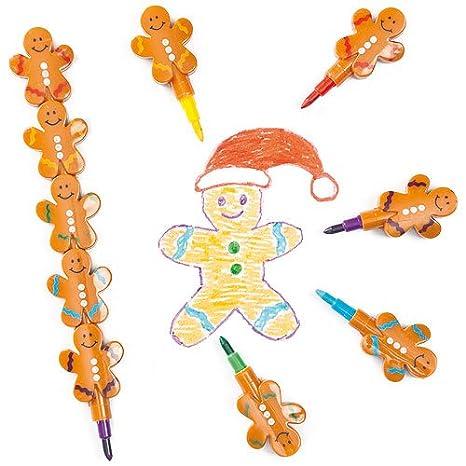 Baker Ross Ceras apilables con forma de muñeco de nieve (Paquete de 4) Para calcetines navideños infantiles: Amazon.es: Juguetes y juegos