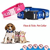 Sinwo Dogs Cats Collar For 4-Month Effective Anti Fleas & Ticks& Mosquitoes Pet Collar (S (suit cat), Pink)