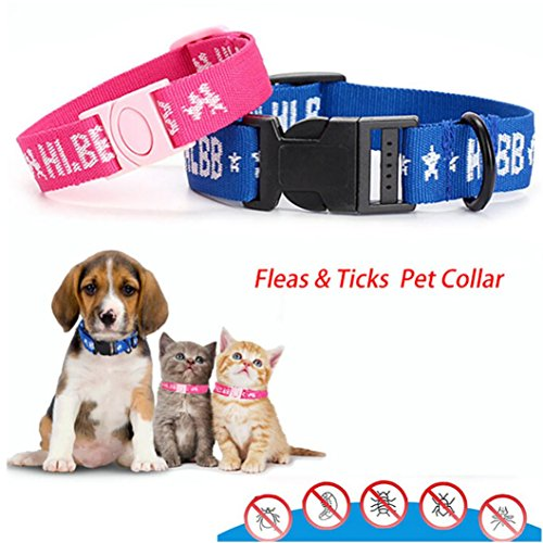 Sinwo Dogs Cats Collar For 4-Month Effective Anti Fleas & Ti