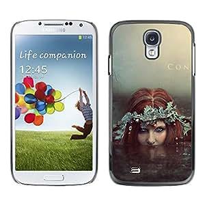 Be Good Phone Accessory // Dura Cáscara cubierta Protectora Caso Carcasa Funda de Protección para Samsung Galaxy S4 I9500 // Fairy Redhead Siren Water Witch Mermaid