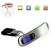 Portable Travel Hook Scale 110lb 50kg LCD Digital Hanging Luggage Baggage Scale Electronic Weight