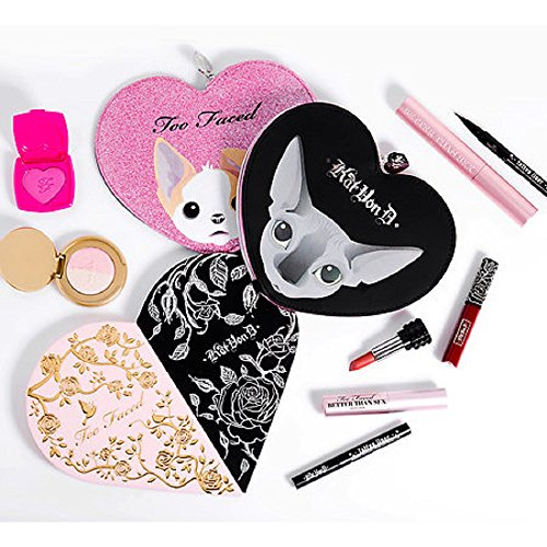 Too Faced x Kat Von D ~ Better Together Cheek & Lip Makeup Bag Set ~ Limited Edition (Lipstick Sheer Lip Peony)
