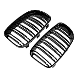 (US) Glossy Black Double Line Front Kidney Grille For BMW E81 E87 E82 E88 120i 128i 130i 135i Selected