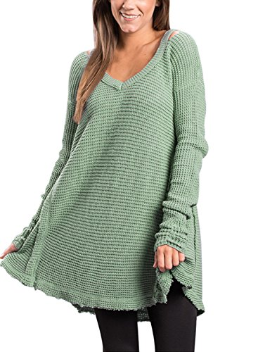 Dokotoo Shoulder Sleeves Knitted Sweater
