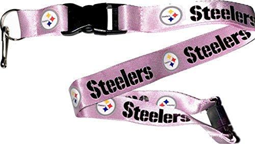 (aminco NFL Pittsburgh Steelers Team Lanyard, Pink)