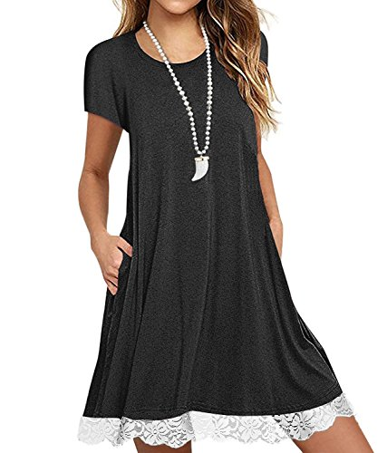 Short Sleeve Summer Casual T-Shirt Dress