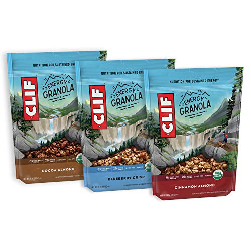 Clif Energy Granola - Variety Pack - Organic, Gluten Free Nutrition (10 Ounce Bag, 3 Count)