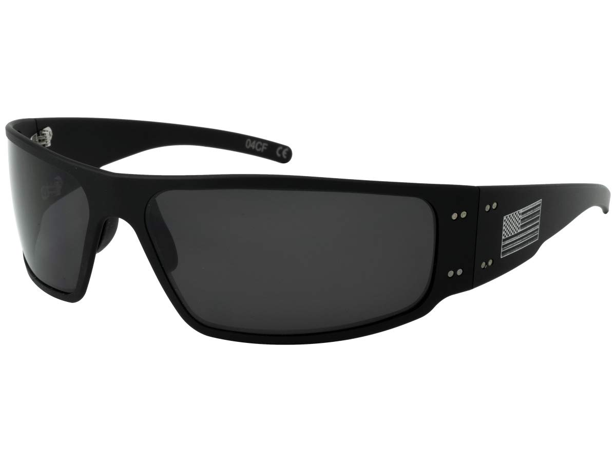 Gatorz AM-MAGBLK01P Patriot - Magnum Sunglass Patriot - Magnum, Black - American Flag Frame, Smoked Polarized Lens by Gatorz