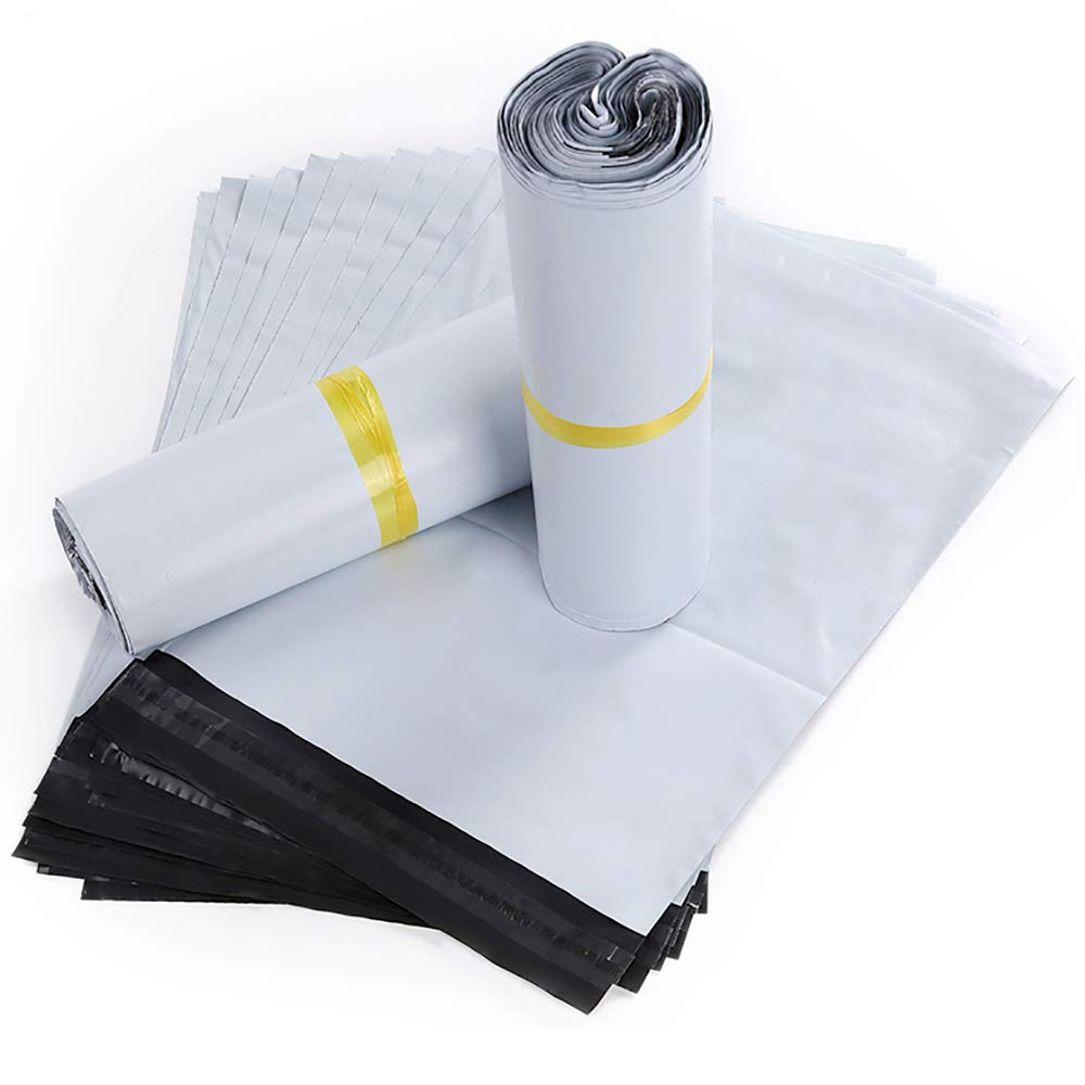 HVDHYY Buste Spedizione Plastica Autoadesive Borse Sacchetti Merce Postali Imballaggi Courier Postali Sacchetti 100 pezzi 17 X 35 CM
