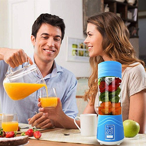 Lovep Portable Personal Blenders, Smoothie Blender USB Rechargeable Juicer Cup Household Fruit Mixer,Food Grade PC+Food Grade Rubber Seal with Powerful Motor, Water Bottle by Lovep (Image #6)