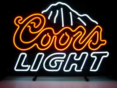 Coors Light Neon Light Signs Beer Bar Pub Display Neon Signs Neon Handicrafted Real Glass Tube17x14 (San Francisco 49ers Neon Sign)