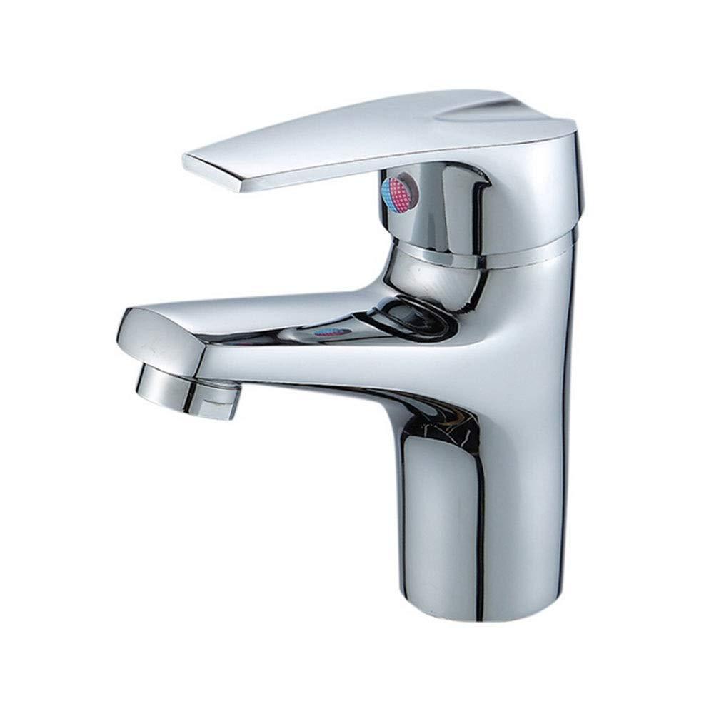 Basin Faucet Copper Single Hole Single hot and Cold Basin Above Counter Basin Faucet Copper Mixing Valve