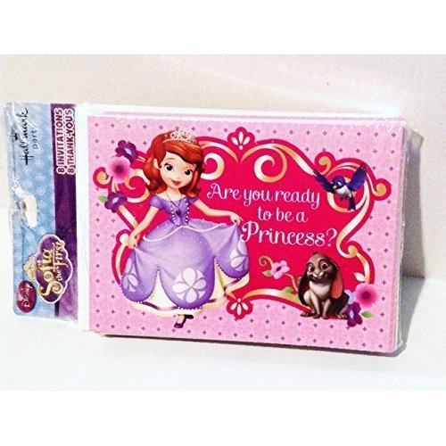 Sofia the First Birthday Invitations & Thank You Cards