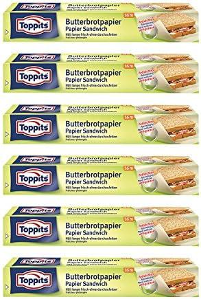 Toppits Butterbrotpapier (28cm x 16m), 6er Pack (6 x 16 Meter)