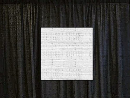 (12 Ft. High x 4 Ft. Wide Banjo Drape Panel (For Pipe and Drape Displays and Backdrops) - Snow White)