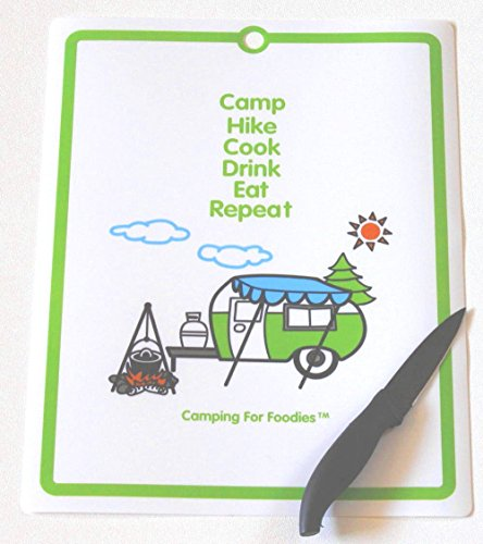 Camp, Hike, Cook, Drink, Eat, Repeat Cutting Mat made our list of Inspirational And Funny Camping Quotes