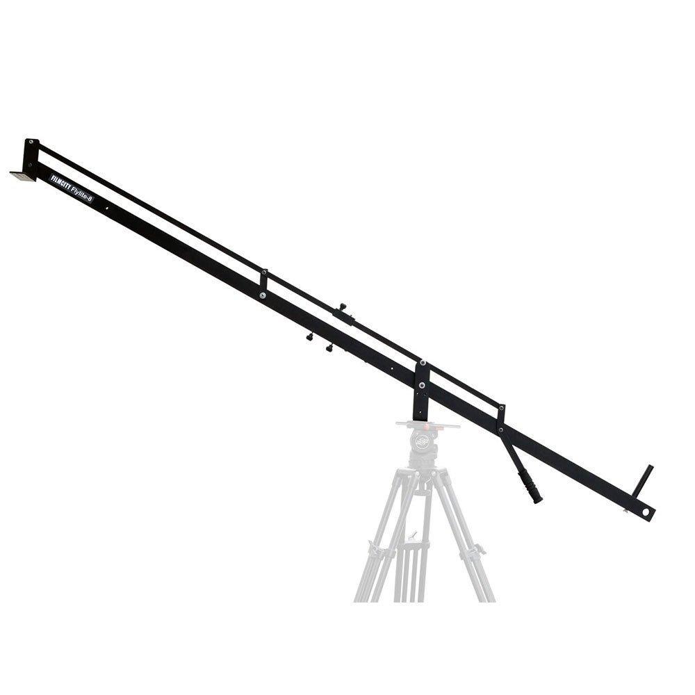 FILMCITY Flylite 8ft/2.4m Hi-Strength Professional Tool-Less Jib Crane for DSLR Video Cinema Camera up to 8kg/16lb | Best Travel & Wedding Video Shooting Jib + Free Bag (FC-FLT-8)
