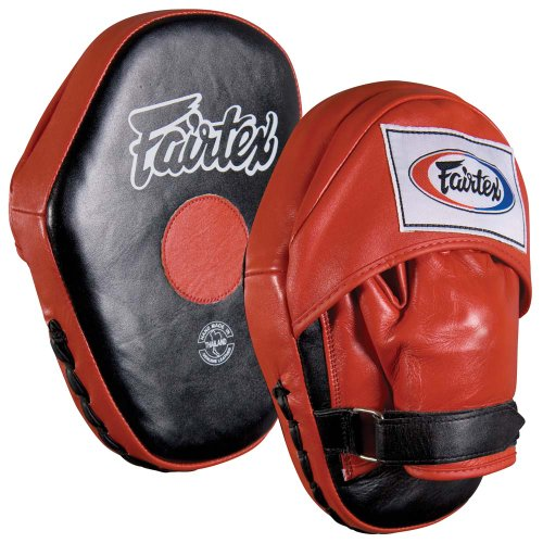 Fairtex Classic Pro Mitts, Red/Black by Ringside