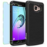 Samsung Galaxy A5 (2016) / A510F Case, INNOVAA Smart Grid Defender Armor Case (Not Compatible with Samsung Galaxy A5 (2015)) W/ Free Screen Protector & Touch Screen Stylus Pen - Black