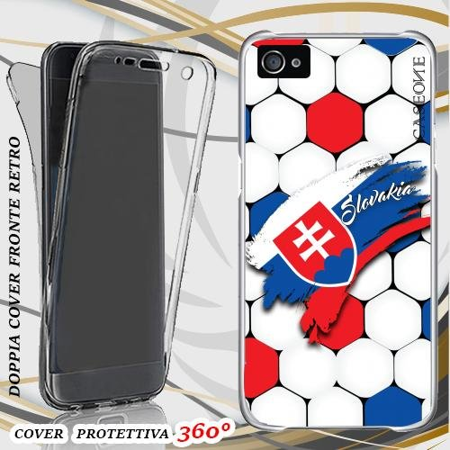 CUSTODIA COVER CASE EUROPEI SLOVAKIA PER IPHONE 4 FRONT BACK