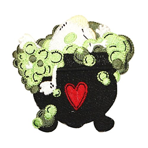 ID 0895 Bubbling Cauldron Patch Witch Brew Halloween Embroidered IronOn -