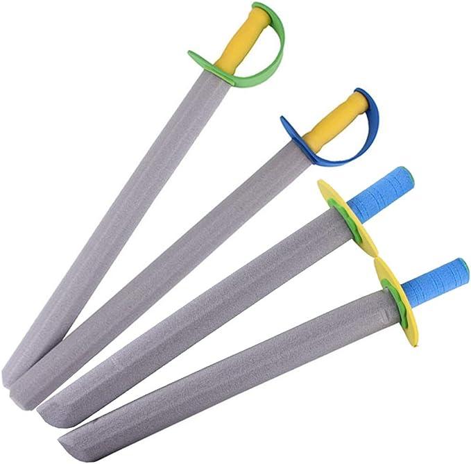 JUSTOLIFT4 UNIDS Espada Juguete Creativo Divertido Espuma Espada Arma Juguete Pretende Jugar Juguete para Niños: Amazon.es: Hogar