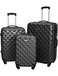 HyBrid Travel 3 PC Luggage Set Durable Lightweight Hard Case Spinner Suitecase