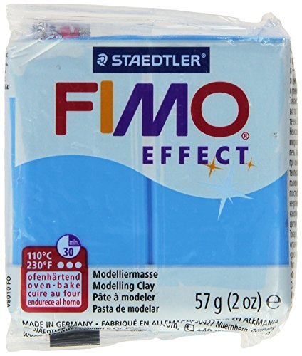 - STAEDTLER Fimo Soft Polymer Clay 2 Ounces-8020-374 Transparent Blue