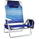 Nautica Reclining Folding Beach Chair with Insulated Cooler & Cup Holder (Blue Ombre) Review