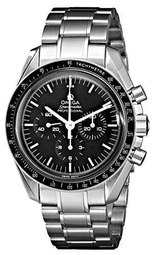 Omega Men's 3570.50.00 Speedmaster Professional Watch with Stainless Steel (Manual Wind Chronograph)