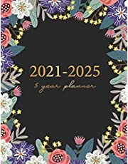 5 Year Planner 2021-2025: Flower Colorful Cover   2021-2025 Five Year Monthly Planner Calendar   60 Months Agenda 5 Year Planning Appointment Book Schedule Organizer Logbook Jan 2021- Dec 2025