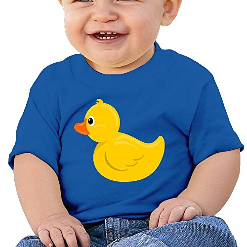 NYCOPI MICJP Baby Unisex Lovely Little Yellow Duck Clothes Summer Short Sleeve Cotton T-Shirts 24 Months