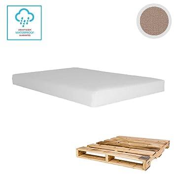 Arketicom Pallet One CHEOPE - Cojin Asiento para Sofa en Euro Palet con tejido para Exterior Impermeable y Desenfundable - interior Espuma de Poliuretano ...
