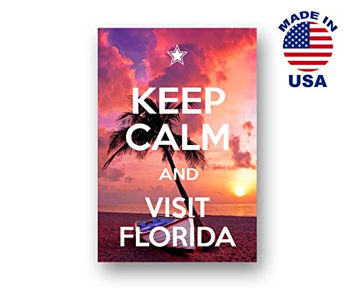 KEEP CALM AND VISIT FLORIDA postcard set of 20 identical postcards. Quality post card pack. Made in USA.