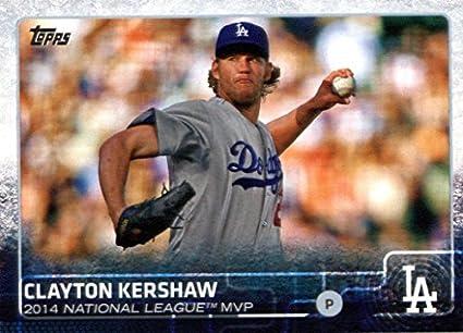 Amazoncom 2015 Topps Baseball Card 545 Clayton Kershaw