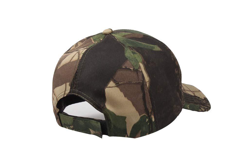 Tanlo 2019 Unisex Women Men Summer Outdoors Camouflage Visor Baseball Cap Adjustable Hat Dad Hats (A, Size:Adjustable) by Tanlo (Image #4)