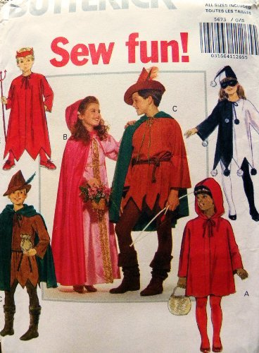 Amazon.com: Butterick Sewing Pattern Child Costumes S-XL 4-14: Toys ...