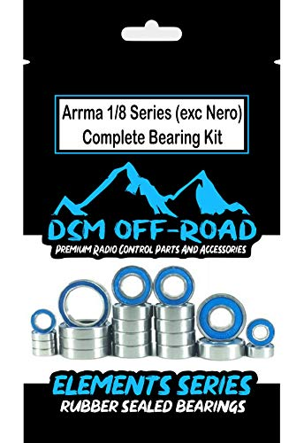 Arrma Outcast, Kraton, Typhon, Senton & Talion Complete Sealed Bearing Kit Set (22 Bearings) - by DSM Off-Road ()