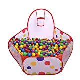 Mudder Kids Ball Pit Playpen Toddler Play Tent Sea Ball Pool with Mini Basketball Hoop and Zipper Storage Bag, 4 Feet/ 120 cm, Balls Not Included (Toy)