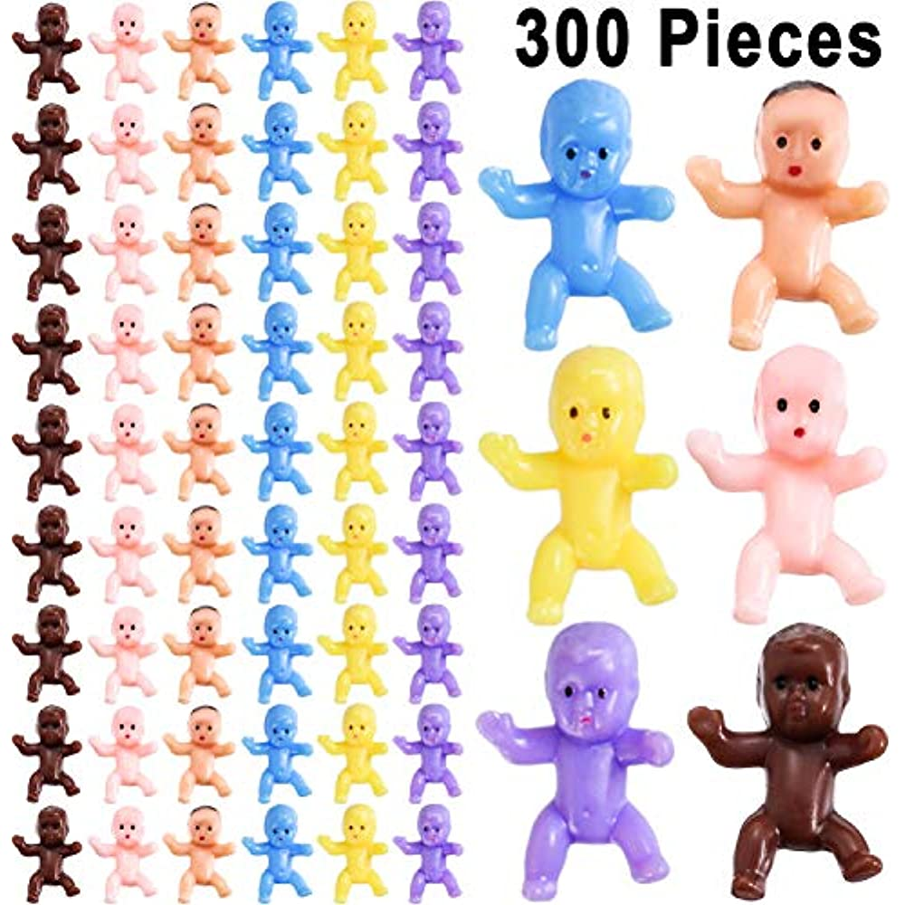 new 288 mini plastic baby babies shower party favors my