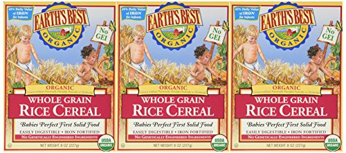 Earth's Best Organic Whole Grain Rice Cereal (3x8 oz.)