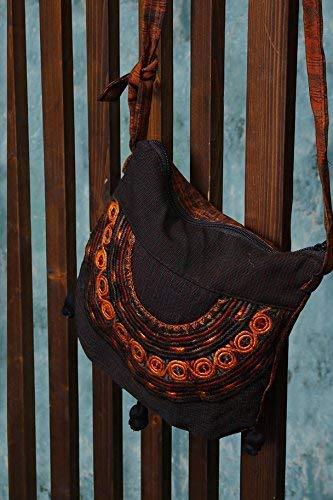 - Brown Guatemalan Embroidered Shoulder Bag