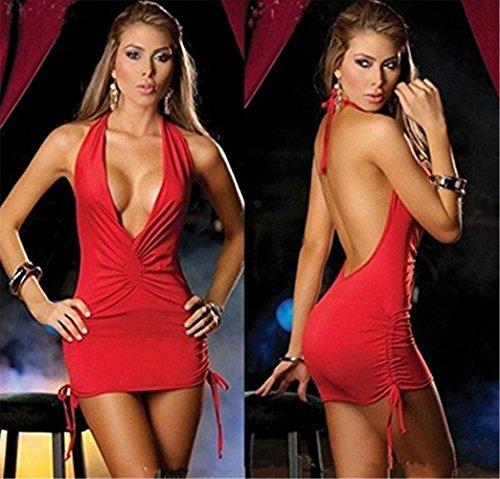cóctel Rojo Vestido Unica YeeHoo Talla de XEx4C