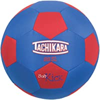 Tachikara SS32 Soft Kick Fabric Soccer Ball, Blue/Red
