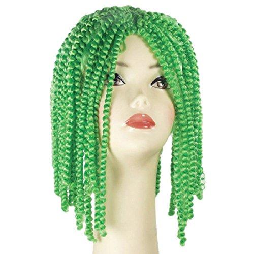 Morris Costumes Adult Spring Curl Dark Green Wig - Morris Spring Costume